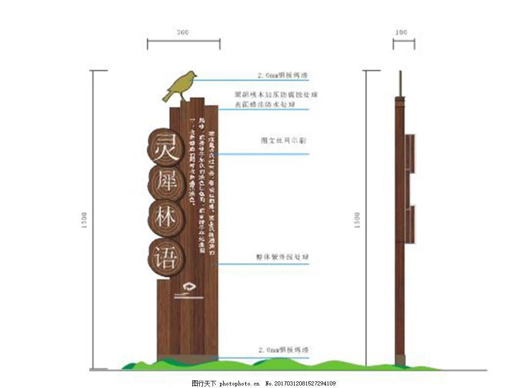 景区公园标识牌导视牌设计