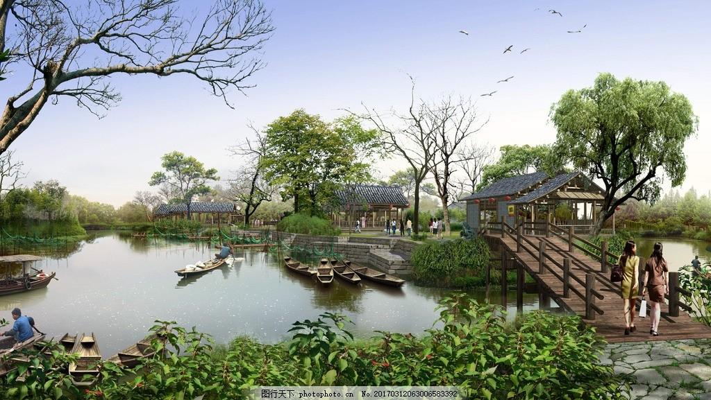西溪湿地公园效果图