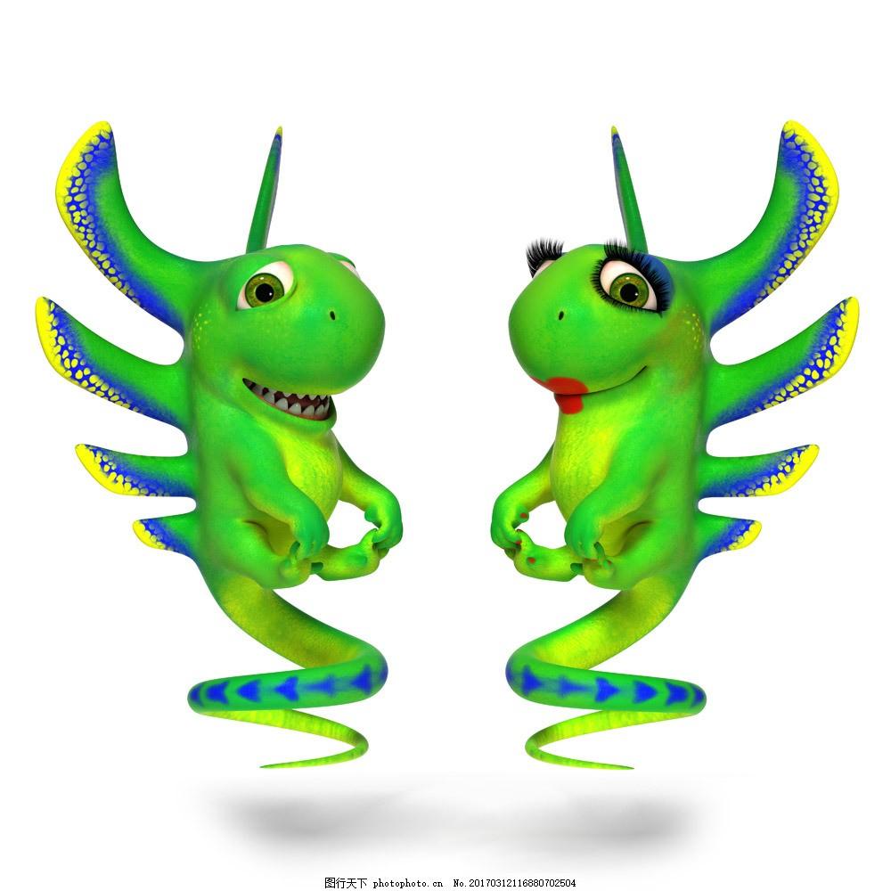 卡通蜥蜴 卡通蜥蜴图片素材 变色龙 广告牌 卡通动物 生物世界