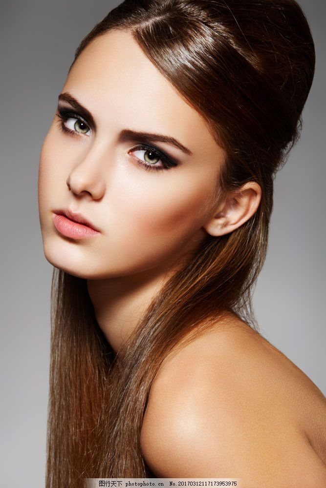 美容美发模特美女 美容美发模特美女图片素材 时尚美女 美容模特