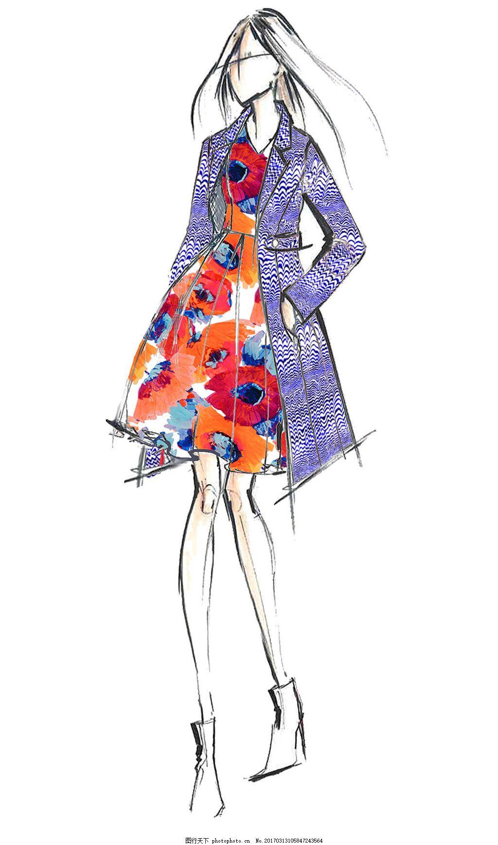 时尚女装设计图 职业女装 职业装 女装设计效果图 短裙 衬衫 服装图片