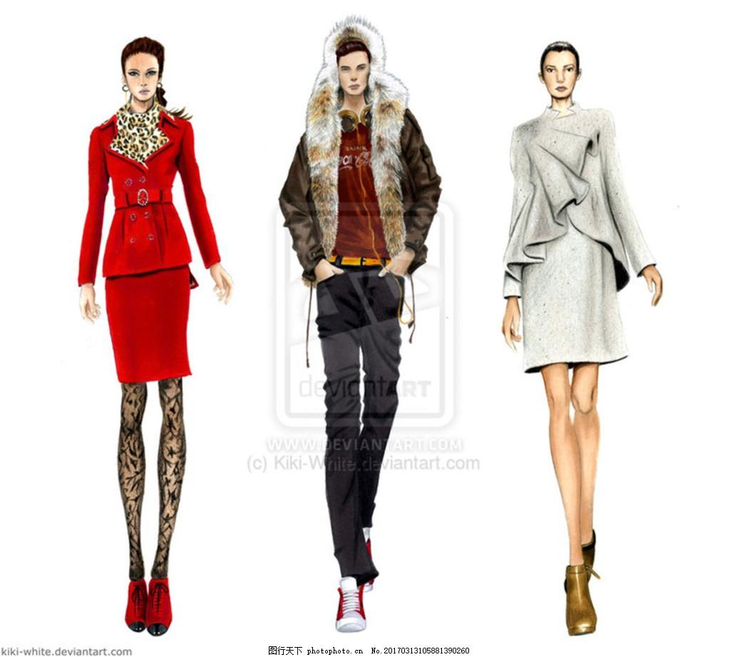 3款服装设计图