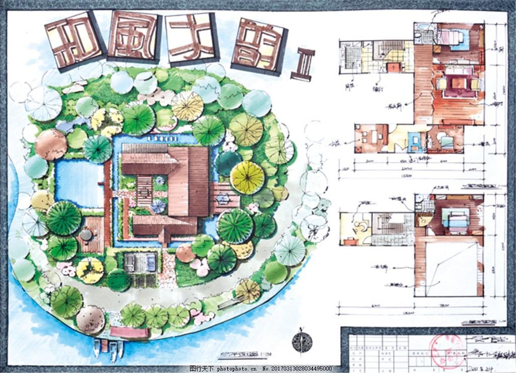 木韵建筑平面图 建筑平面图素材免费下载 手绘图 图纸 城堡 建筑施工