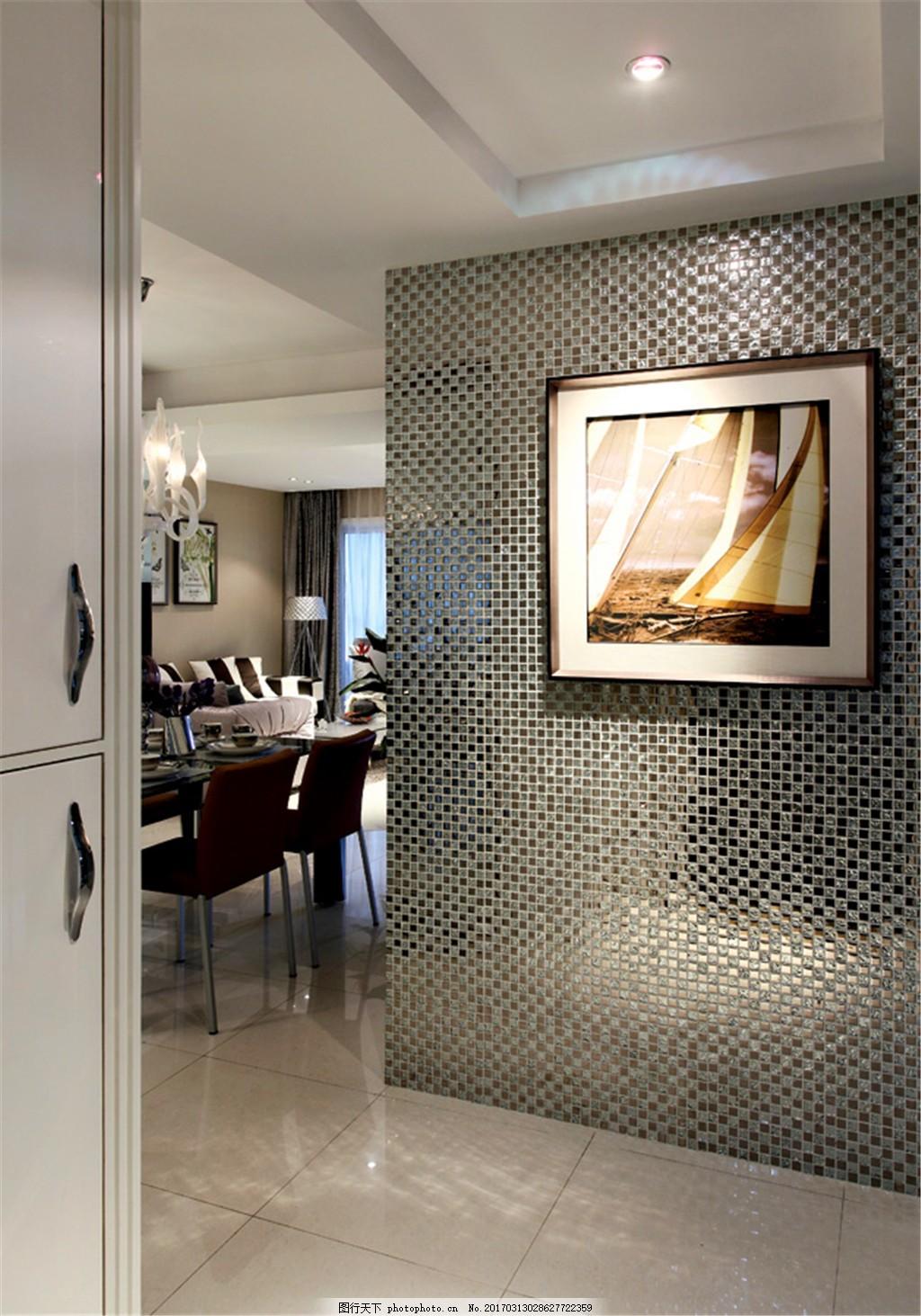 客厅餐厅装修效果图 吊灯 桌子 凳子 沙发 枕头 蜡烛 挂画 酒杯 盘子