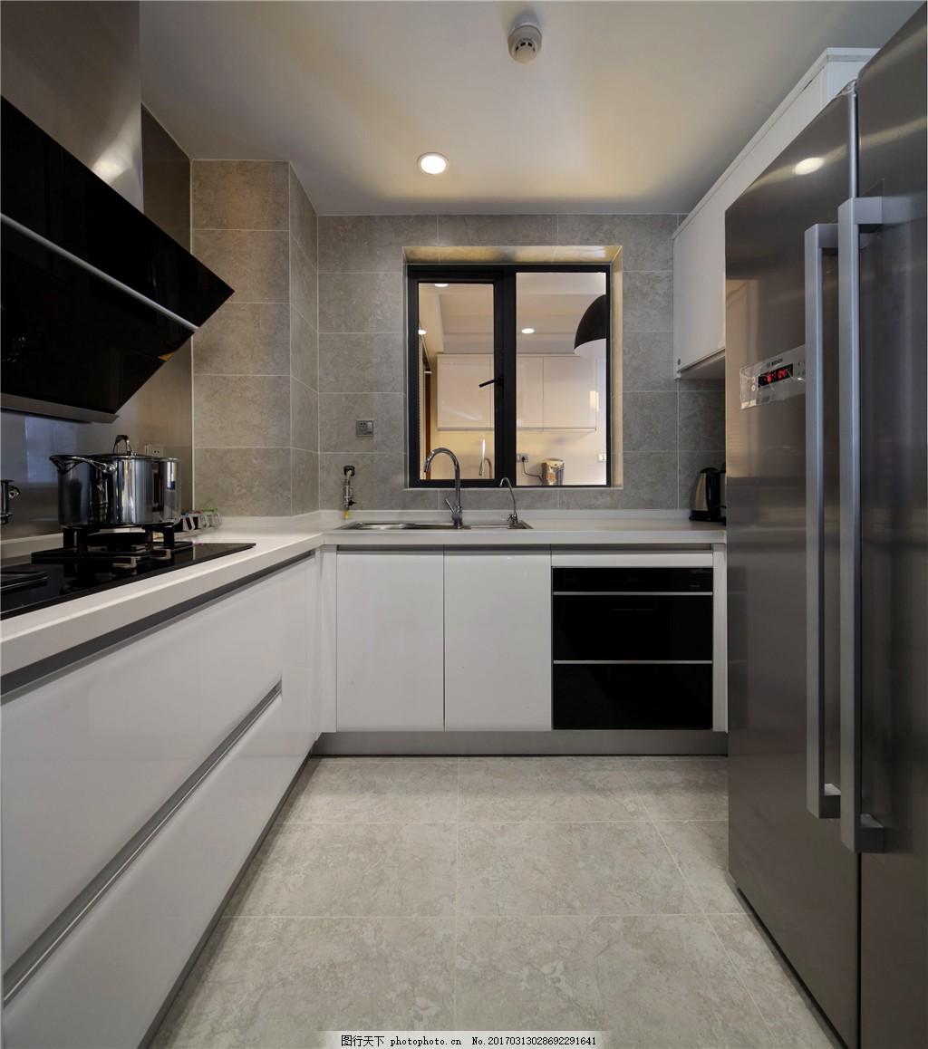 图片素材 厨房装修设计 现代风格 室内装修设计图库 壁画 餐桌 柜子