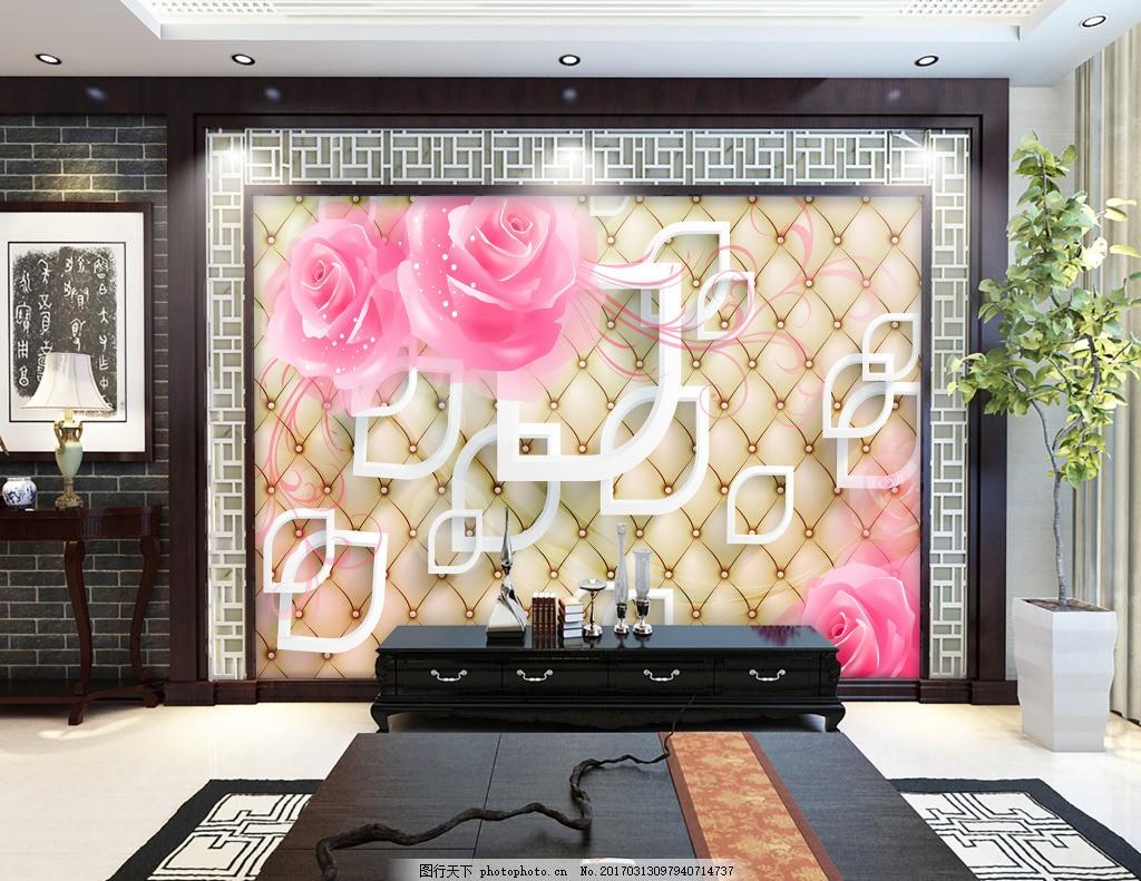 方格子背景墙花卉背景墙 壁纸 风景 高分辨率图片 高清大图 建筑