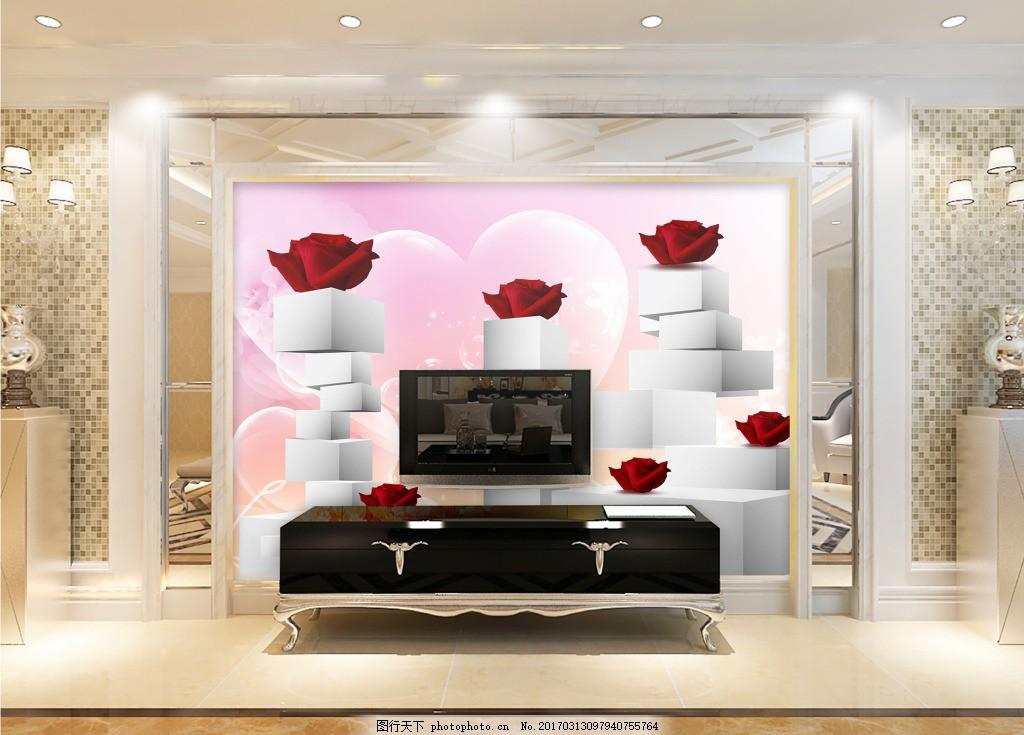 室内背景图 玄关 装饰画 装饰 装饰设计 花卉元素装饰背景墙