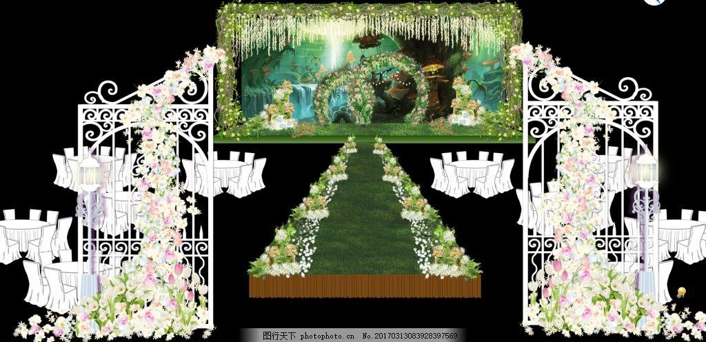 森系婚礼背景 森系婚礼舞台 森系婚礼背景设计 森系婚礼舞台设计