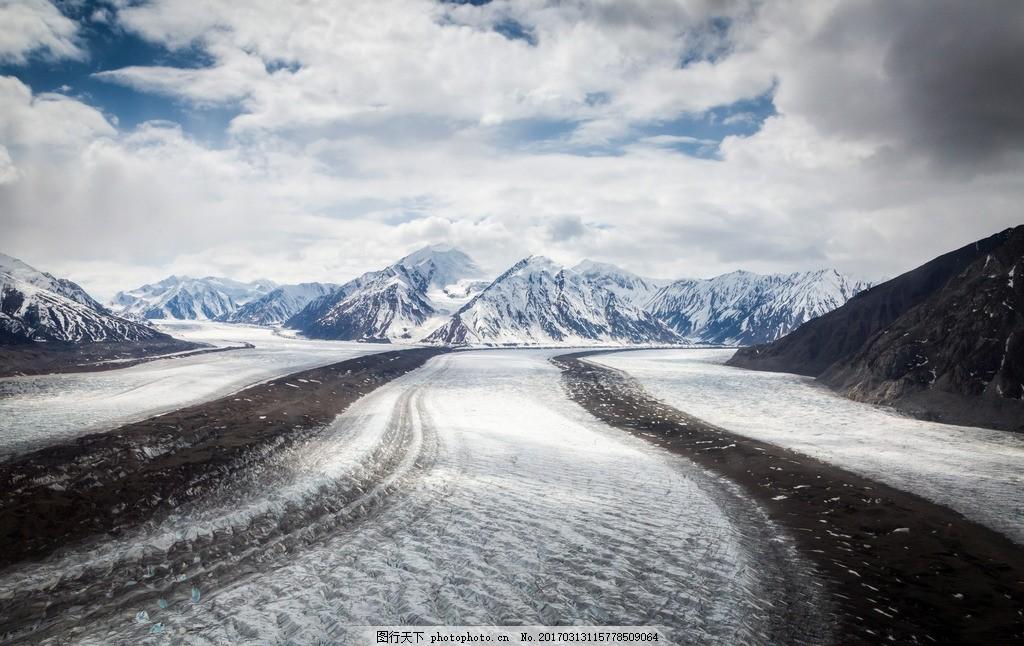 雪山征途 白云 高原 冰川 摄影 自然景观 自然风景