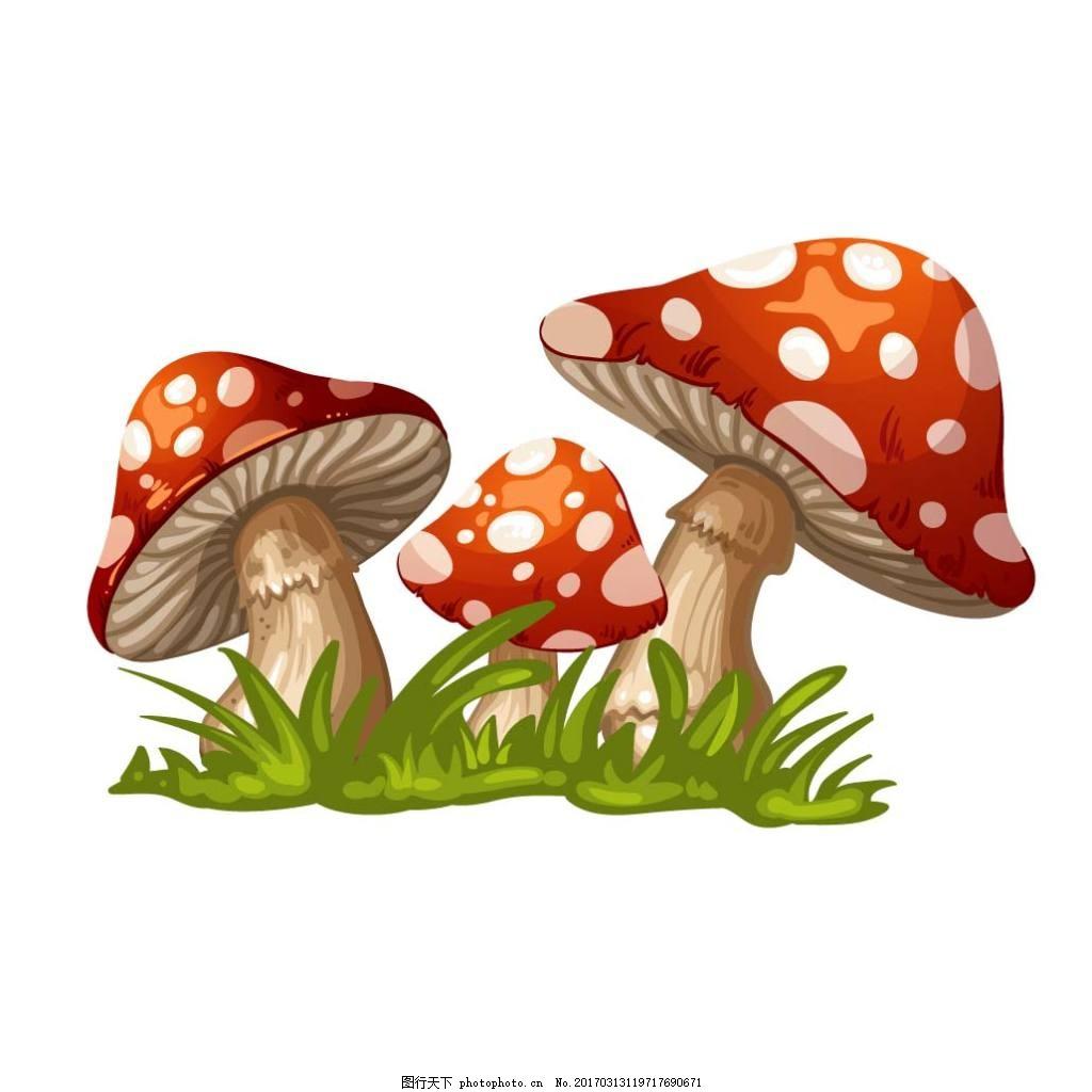 卡通蘑菇青草矢量素材下载 卡通 蘑菇 青草 草 手绘 矢量 素材