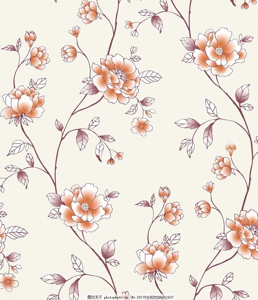 藤蔓牡丹 藤蔓 牡丹 渐变 桌布 套版 设计 底纹边框 花边花纹 150dpi