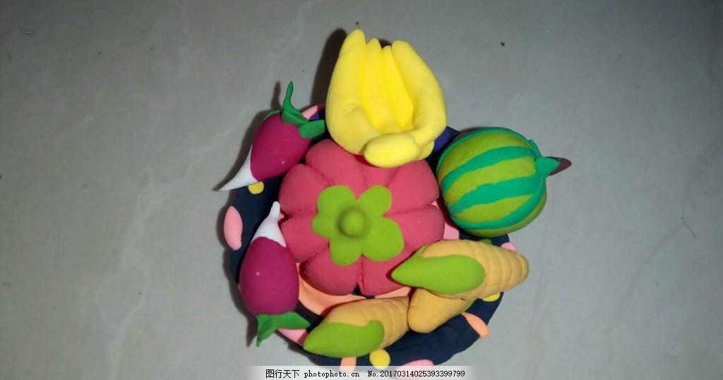 蔬菜篮子 橡皮泥 蔬菜 篮子 香蕉 萝卜 摄影类 摄影 生物世界 海洋