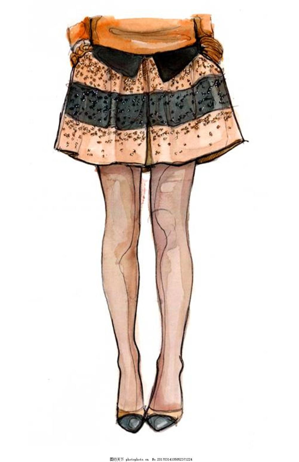 时尚短裙设计图