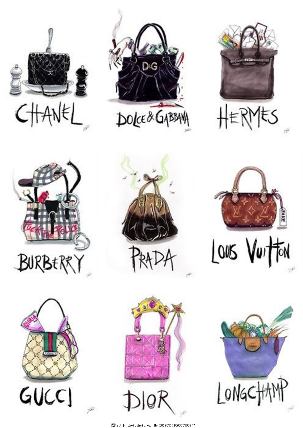 9款包包设计图 钱包 女包 箱包 时尚女包 手提包 背包 双肩包