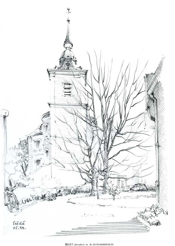 欧式建教堂筑效果图 建筑平面图素材免费下载 手绘图 图纸 城堡
