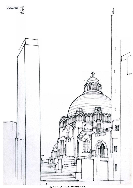 欧式建筑 建筑效果图素材免费下载 手绘图 图纸 平面图 城堡 建筑施工