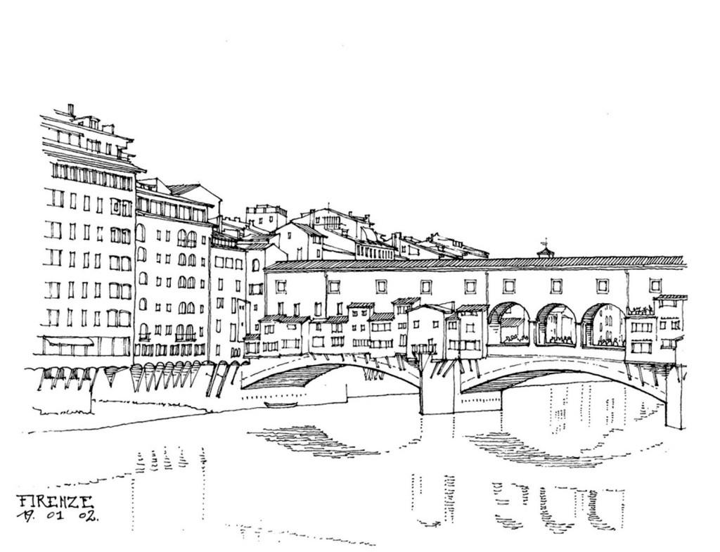 欧式拱桥建筑效果图
