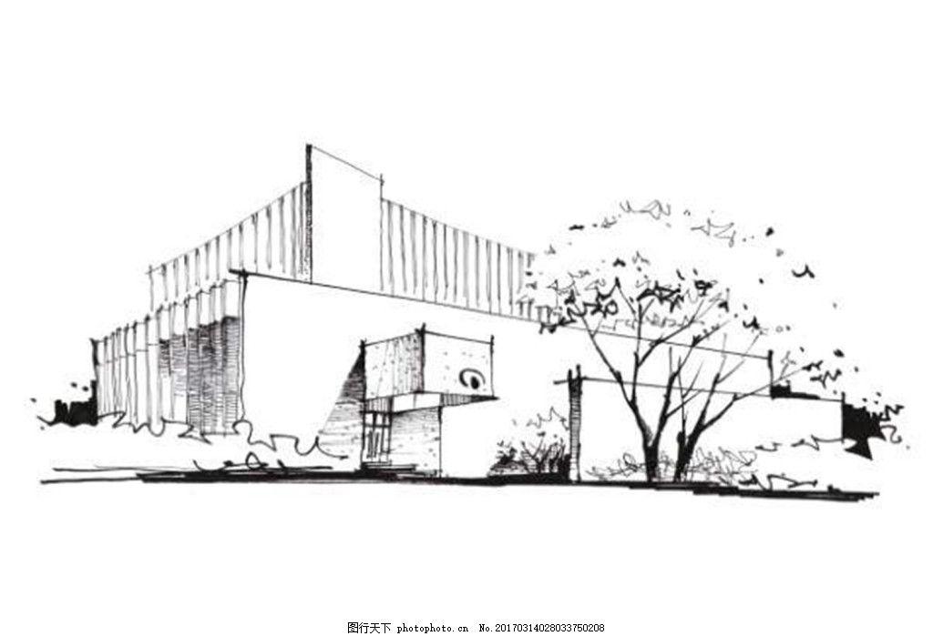 素描建筑效果图 建筑效果图图片下载 手绘图 建筑 平面图 jpg 城堡