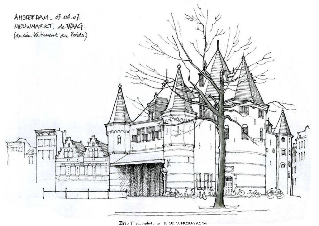 欧式建筑效果图 建筑效果图图片下载 手绘图 建筑 平面图 jpg 城堡 建