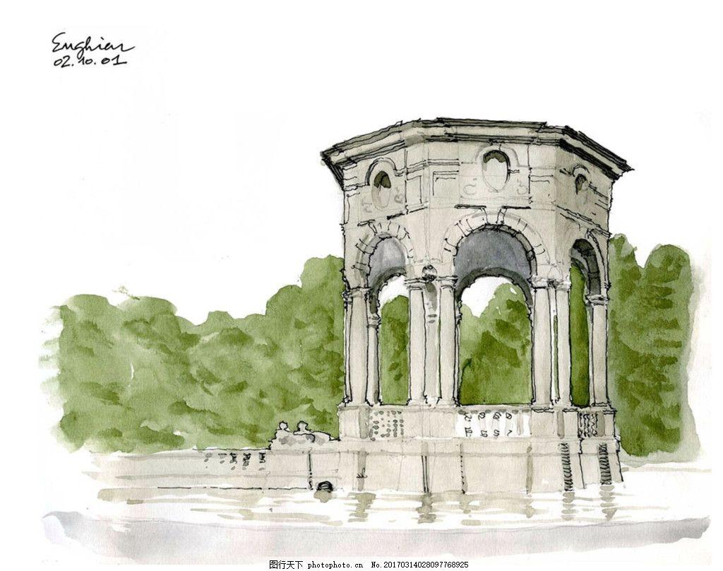 欧式广场建筑 建筑平面图素材免费下载 手绘图 图纸 城堡 建筑施工图
