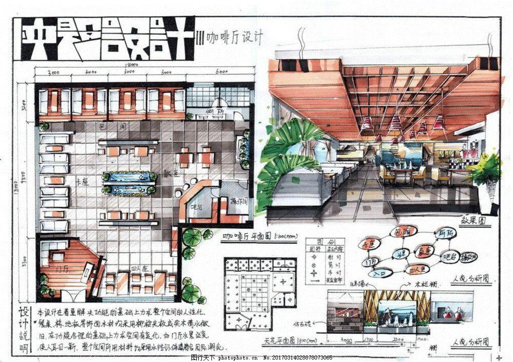 快题设计餐厅平面图