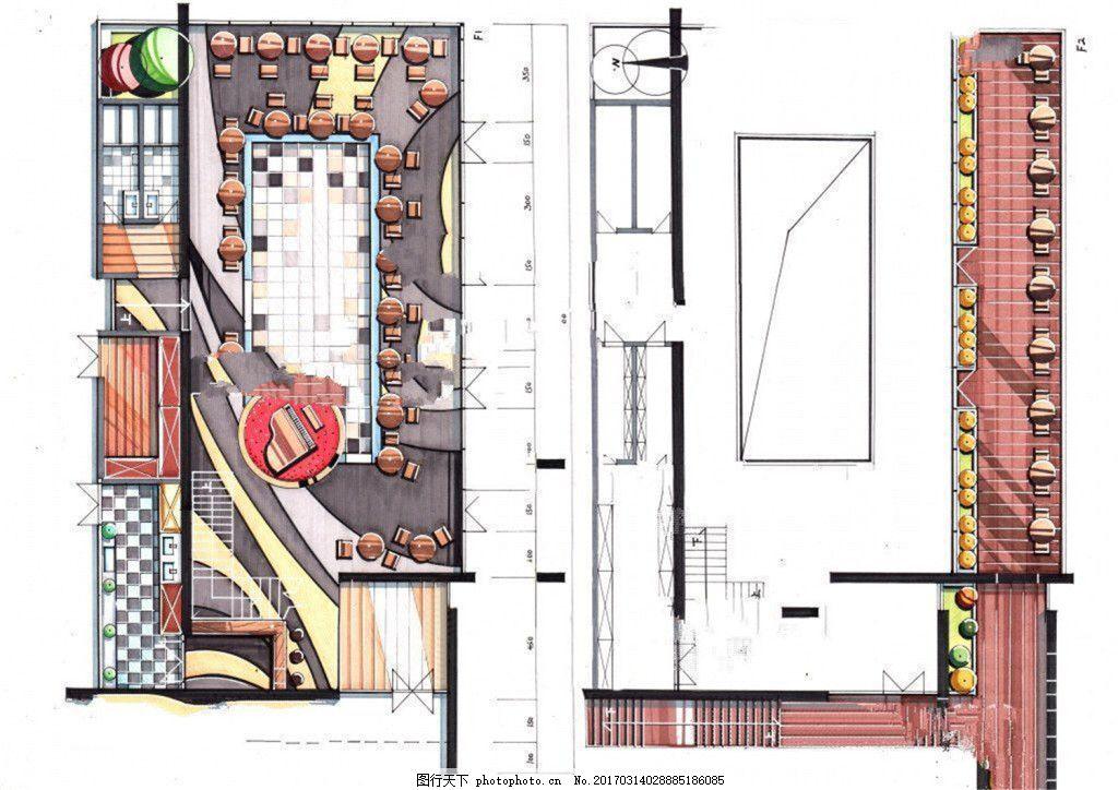 商场平面图 室内设计 工装效果图 工装平面图 施工图 工装效果图免费