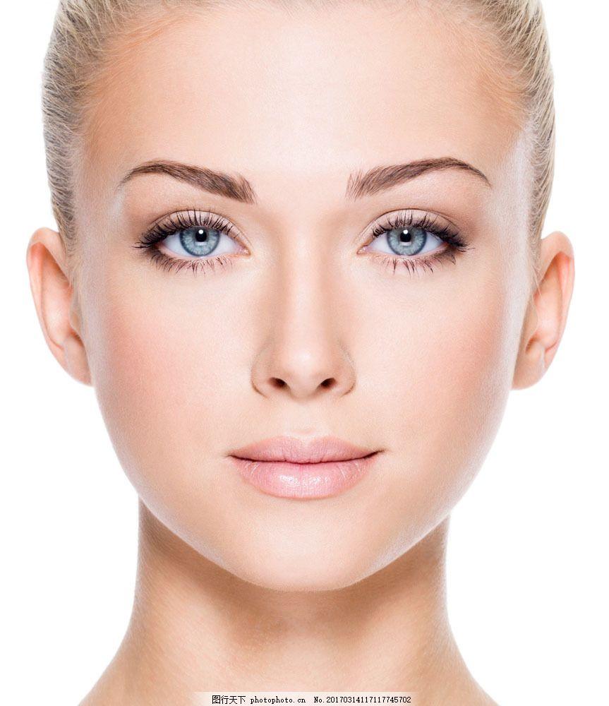 美容模特美女面部特写 美容模特美女面部特写图片素材 脸部特写 性感