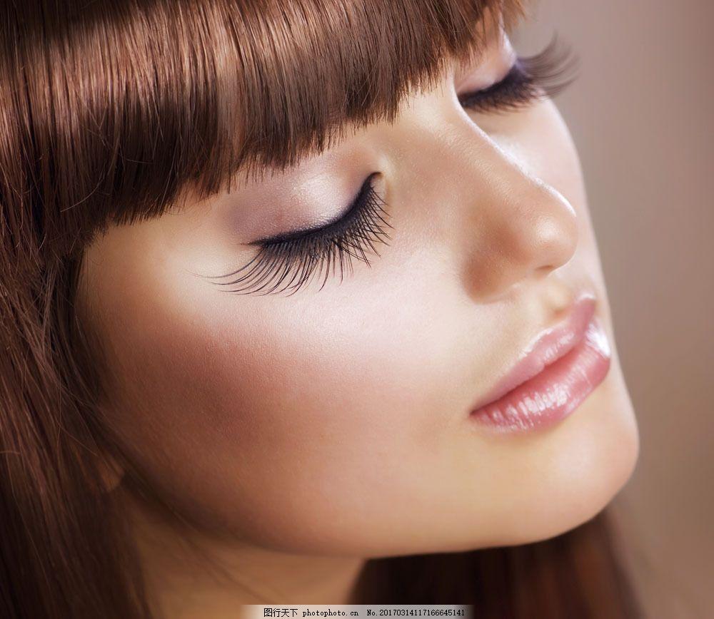 美女摄影 美发模特 美发造型 美容美发 发型 头型 长睫毛 面部特写 美