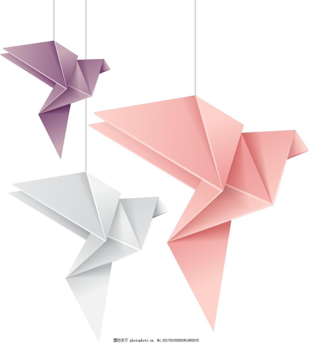 立体千纸鹤 卡通 立体 折纸 千纸鹤 动物