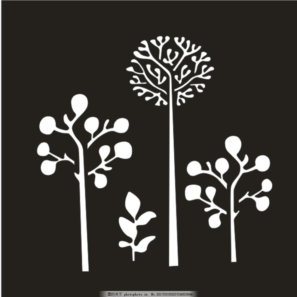 小树 孔雀 镂空雕花 装修 背景墙 欧式镂空图