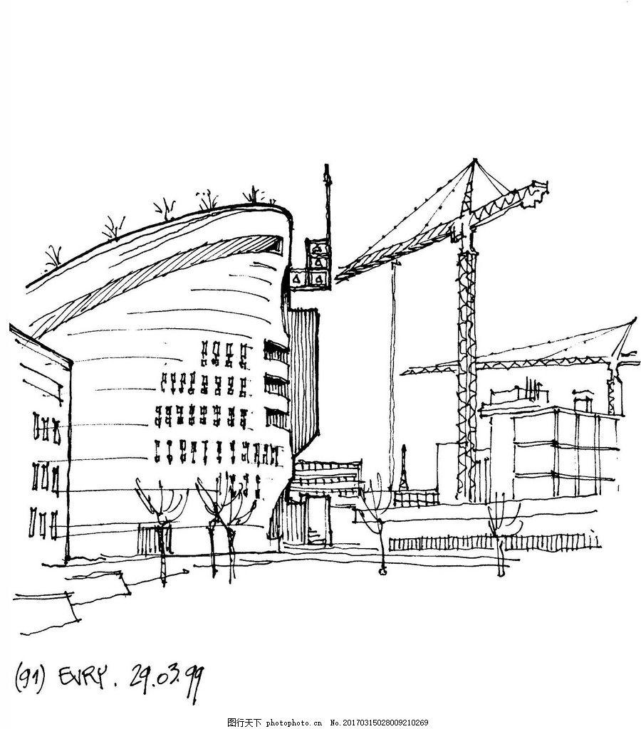 施工中的欧式建筑 建筑平面图素材免费下载 手绘图 图纸 城堡 建筑