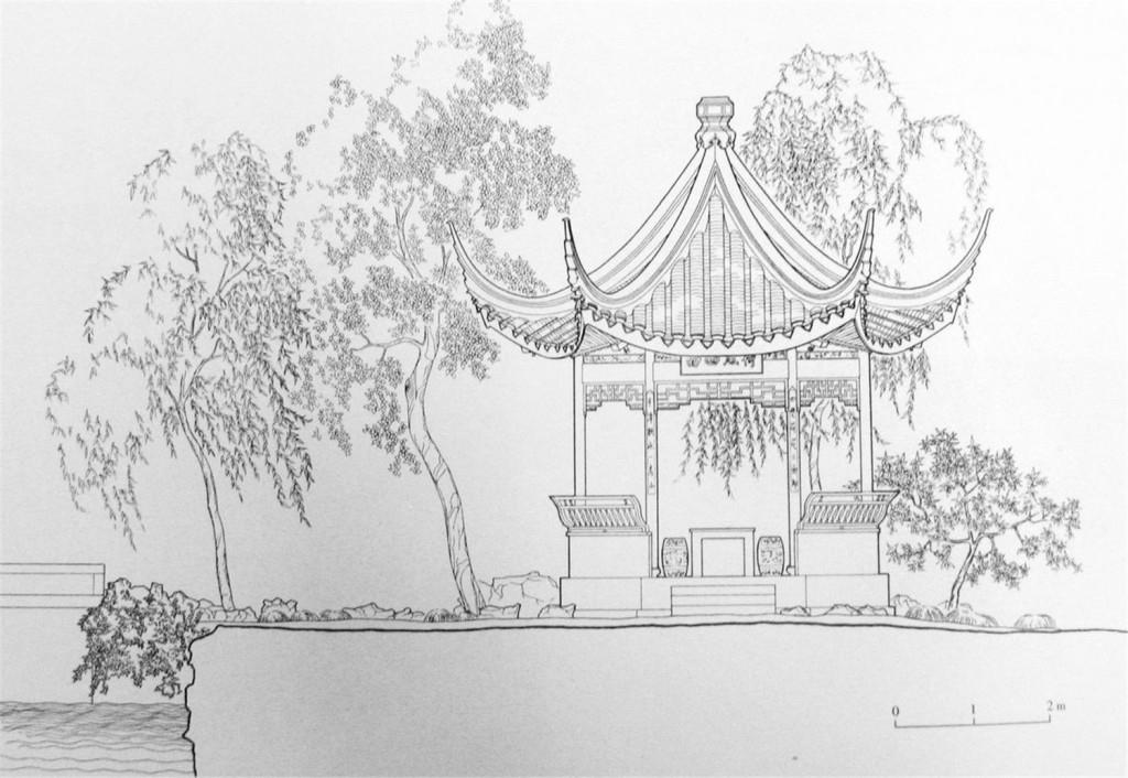 公园亭子效果图 建筑平面图素材免费下载 手绘图 图纸 城堡 建筑施工