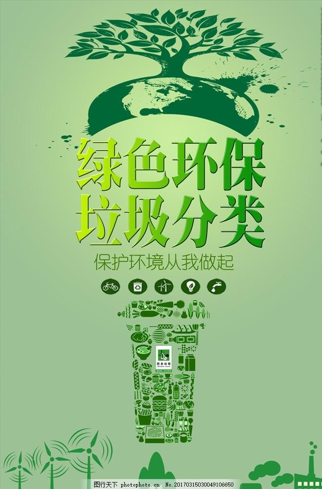 垃圾分类 绿色环保 垃圾入箱 文明城市 垃圾处理 垃圾分类海报