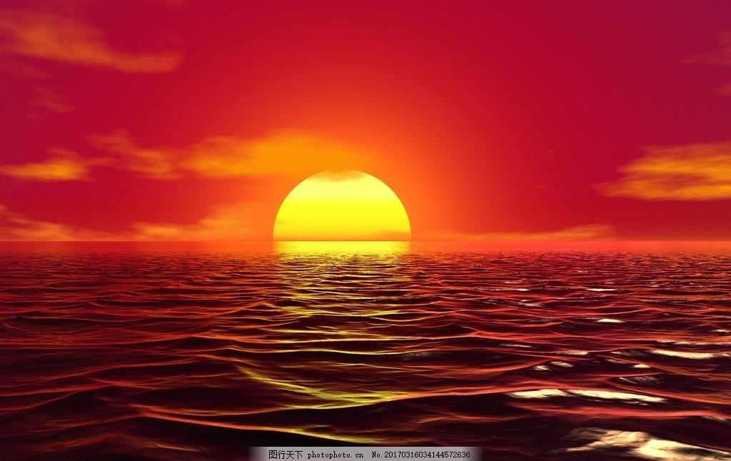 海平面 日出美景 海上日出 大海 日出 朝阳 太阳 红日 日光 阳光 升起
