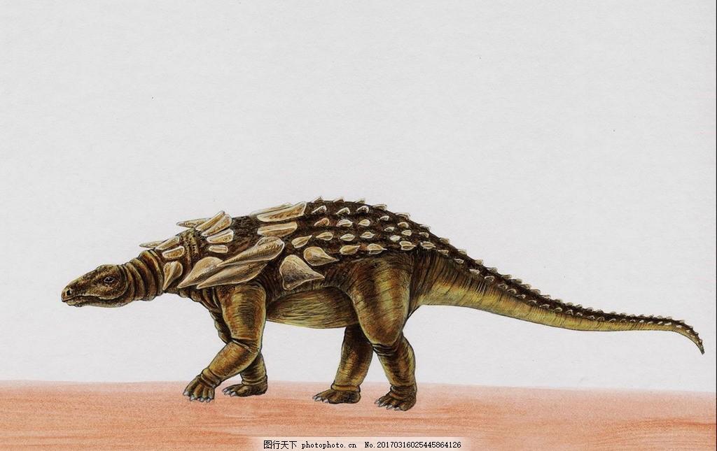 恐龙,侏罗纪 恐龙时代 恐龙绘画 恐龙手绘 恐龙复原图
