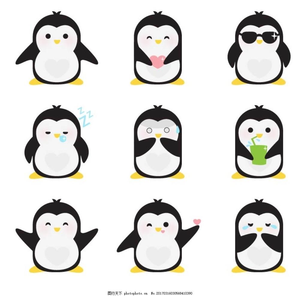 可爱动物 扁平化设计 动物头像 设计 底纹边框 背景底纹 eps 卡通动物