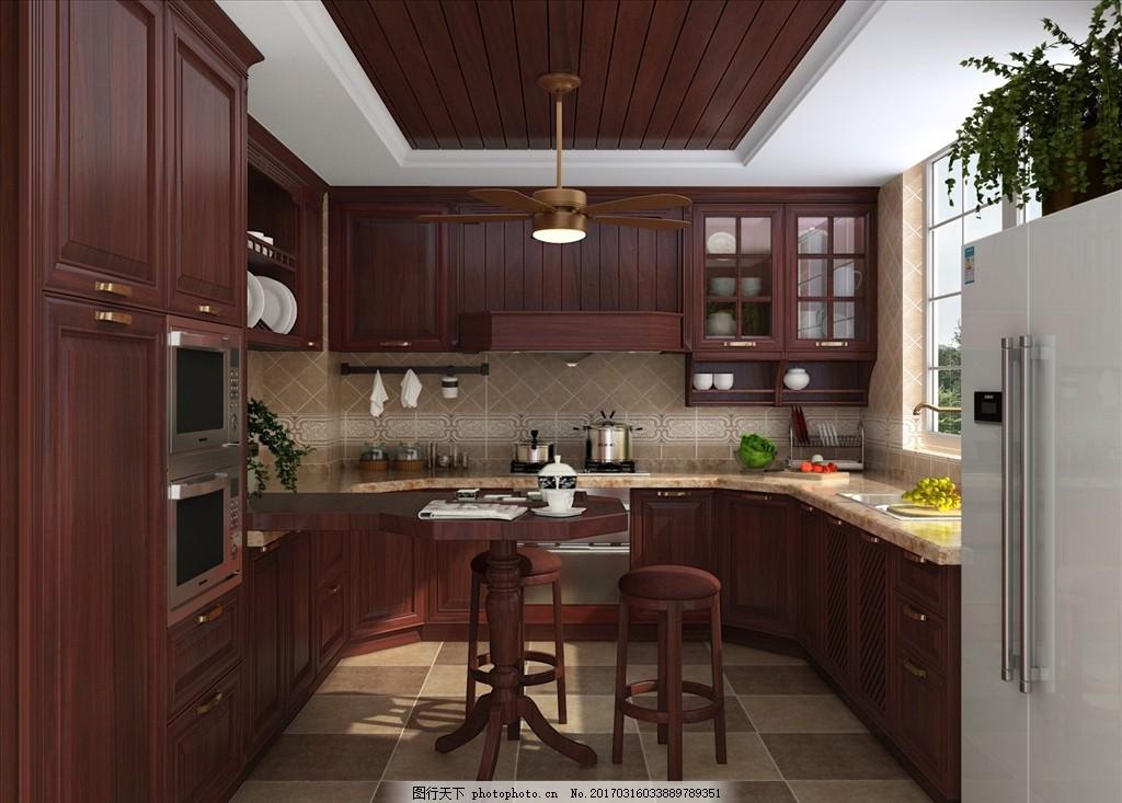 橱柜设计 整体厨房 整体橱柜 深色系厨房 中式 新中式 中式厨房 新