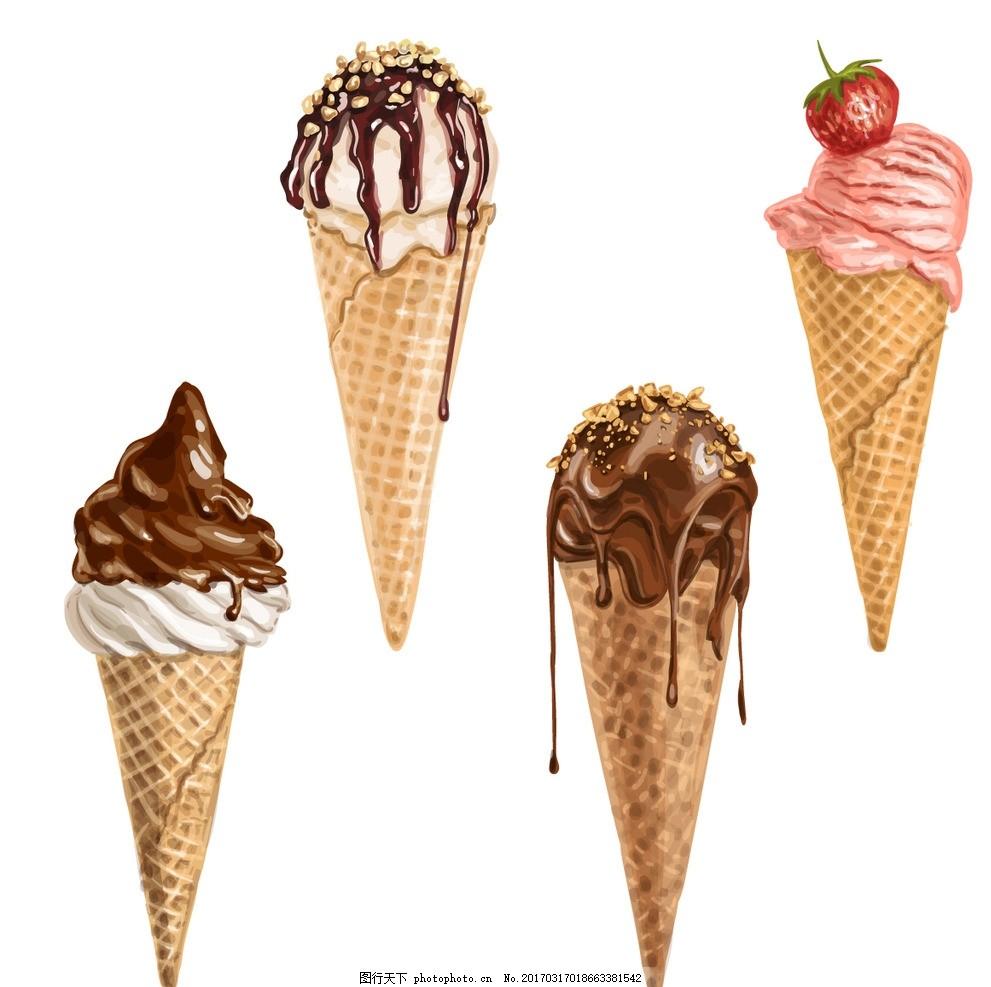 手绘冰淇淋素材