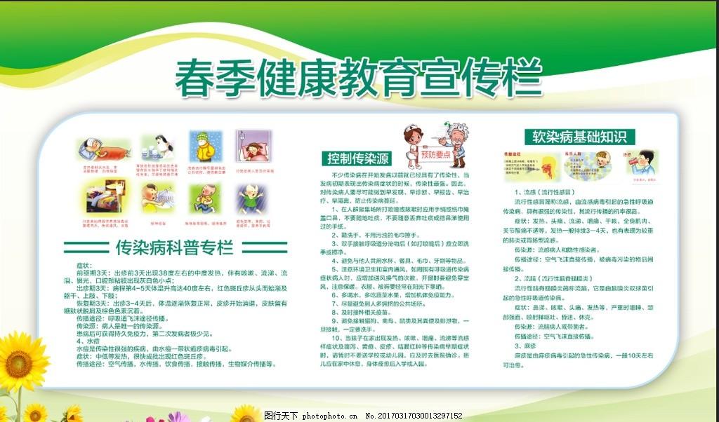 医院展板 创卫展板 疾病 预防 幼儿春季健康 小学春季健康 校园健康