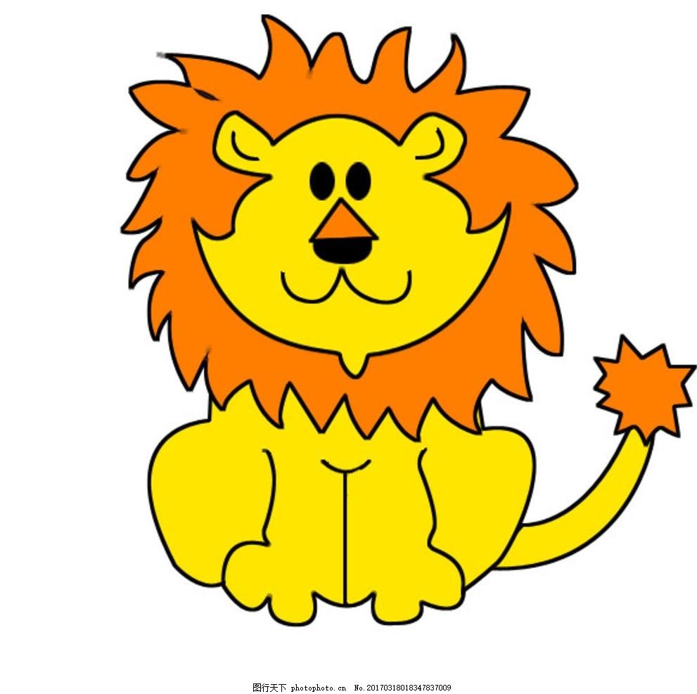 狮子 卡通狮子 狮子素材 狮子图案 可爱狮子 动漫动画