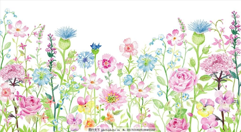 蔷薇手绘背景素材
