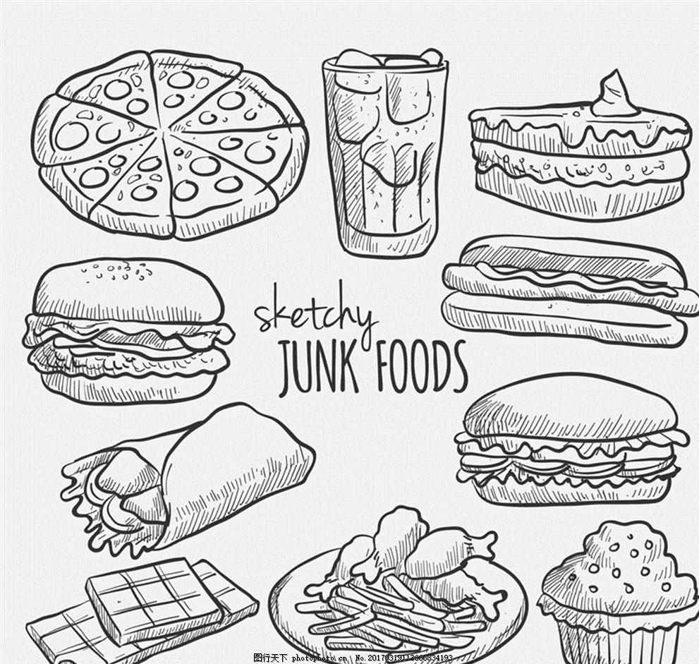 三明治怎么画简笔画步骤