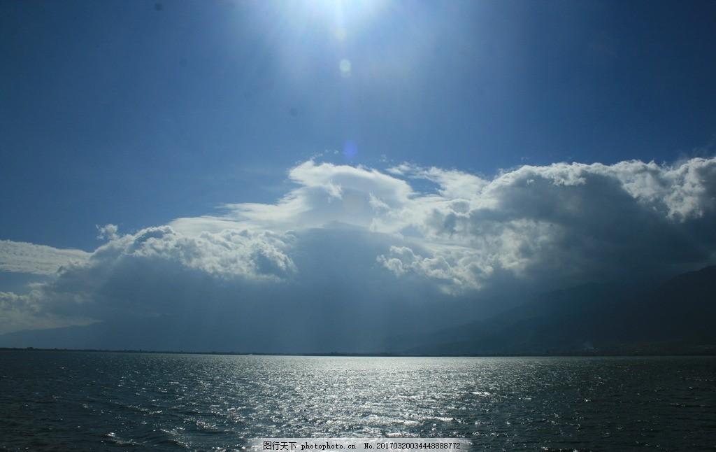 海面 蓝天 白云 海水 阳光 风景 摄影