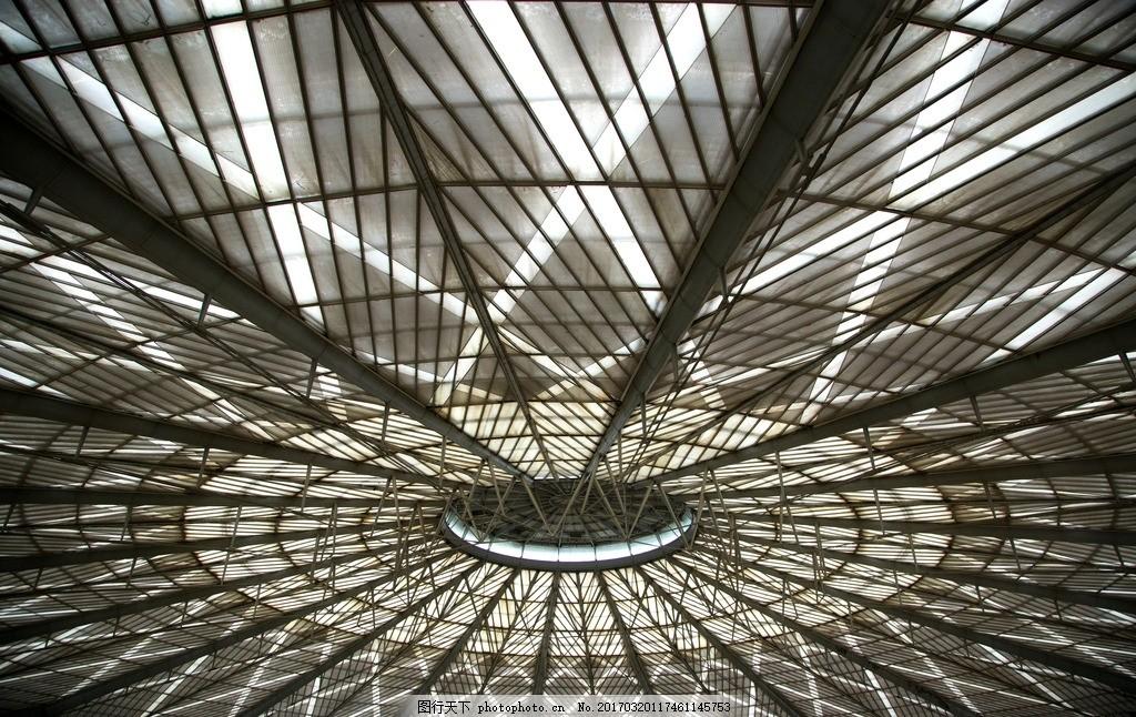 顶棚 建筑顶棚 钢筋顶棚 大棚 建筑结构 大棚结构 摄影 建筑园林