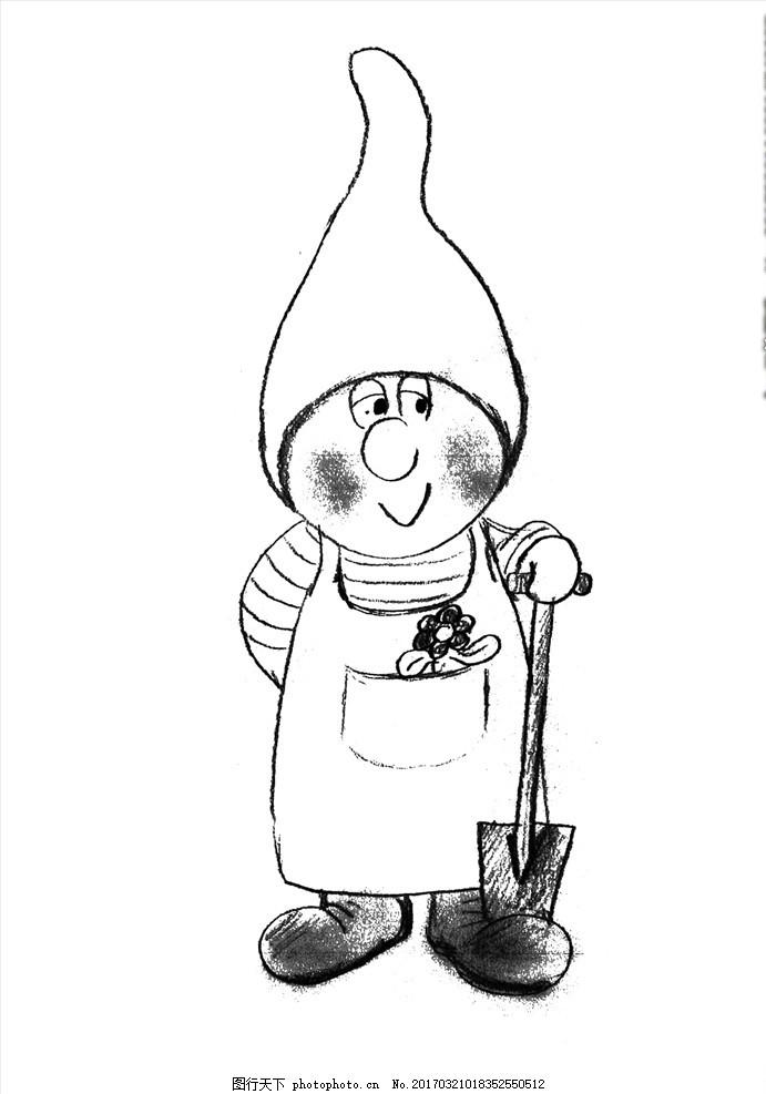 手绘小矮人 手绘小熊图片 卡通小熊 可爱 卡通设计 广告设计 动漫动画