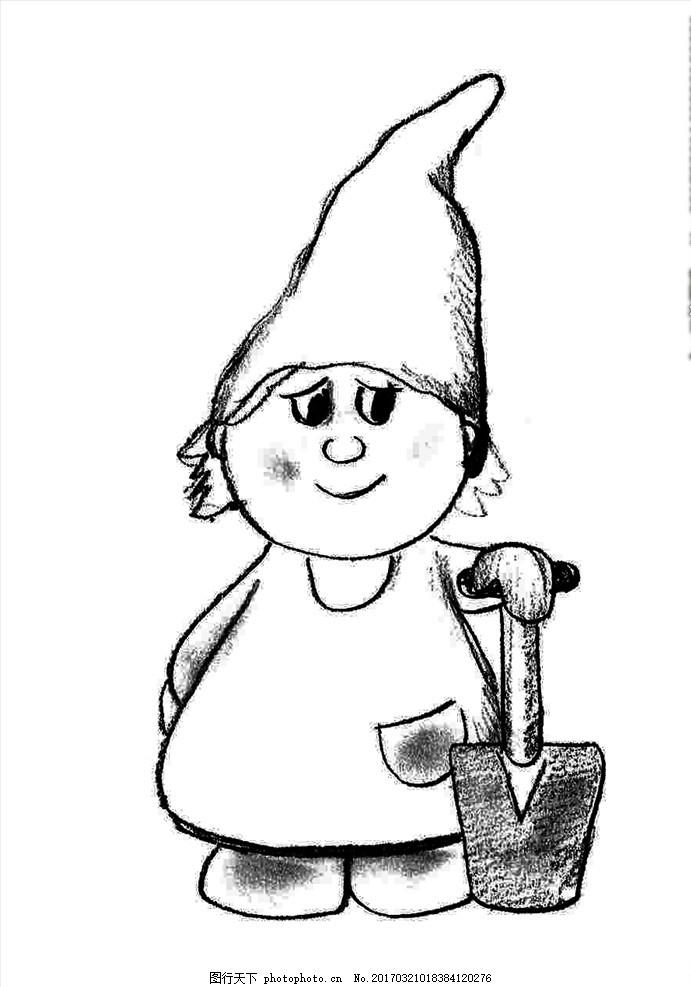手绘小精灵植树节 手绘小熊图片 手绘 小熊 卡通小熊 可爱 卡通设计