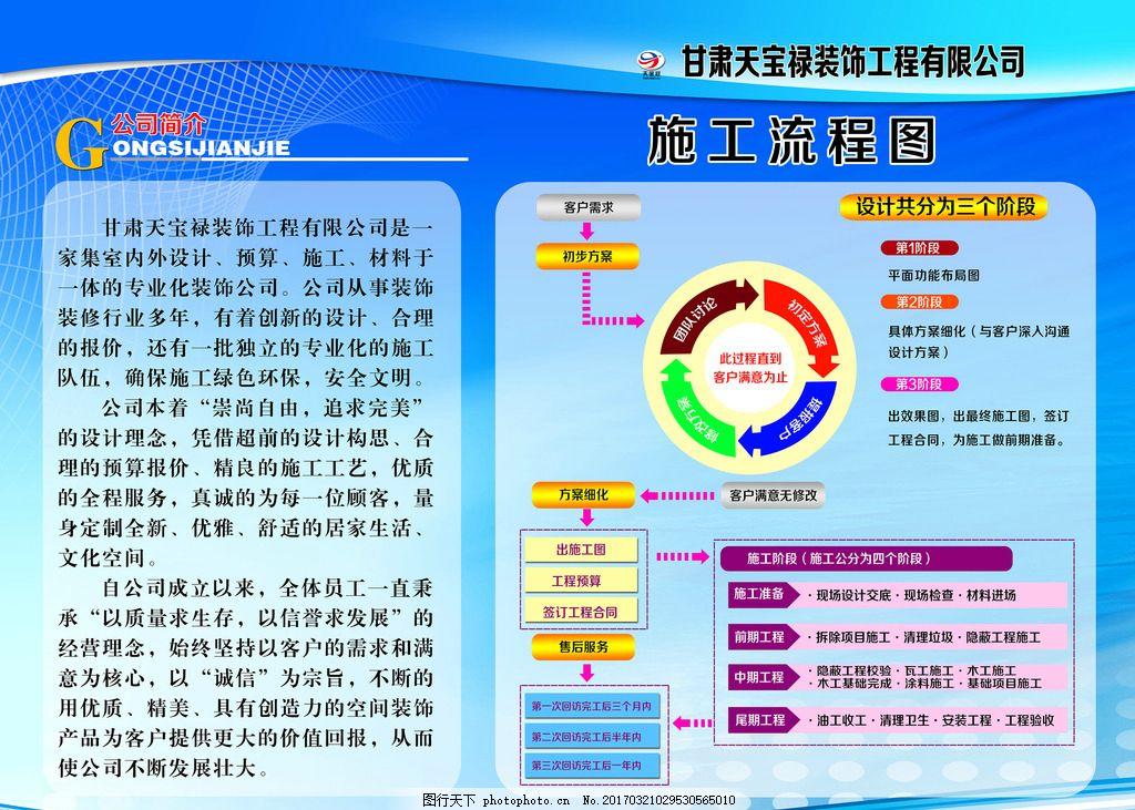 天宝禄装饰公司简介 天宝禄标志 装修 施工流程 装修流程 流程图