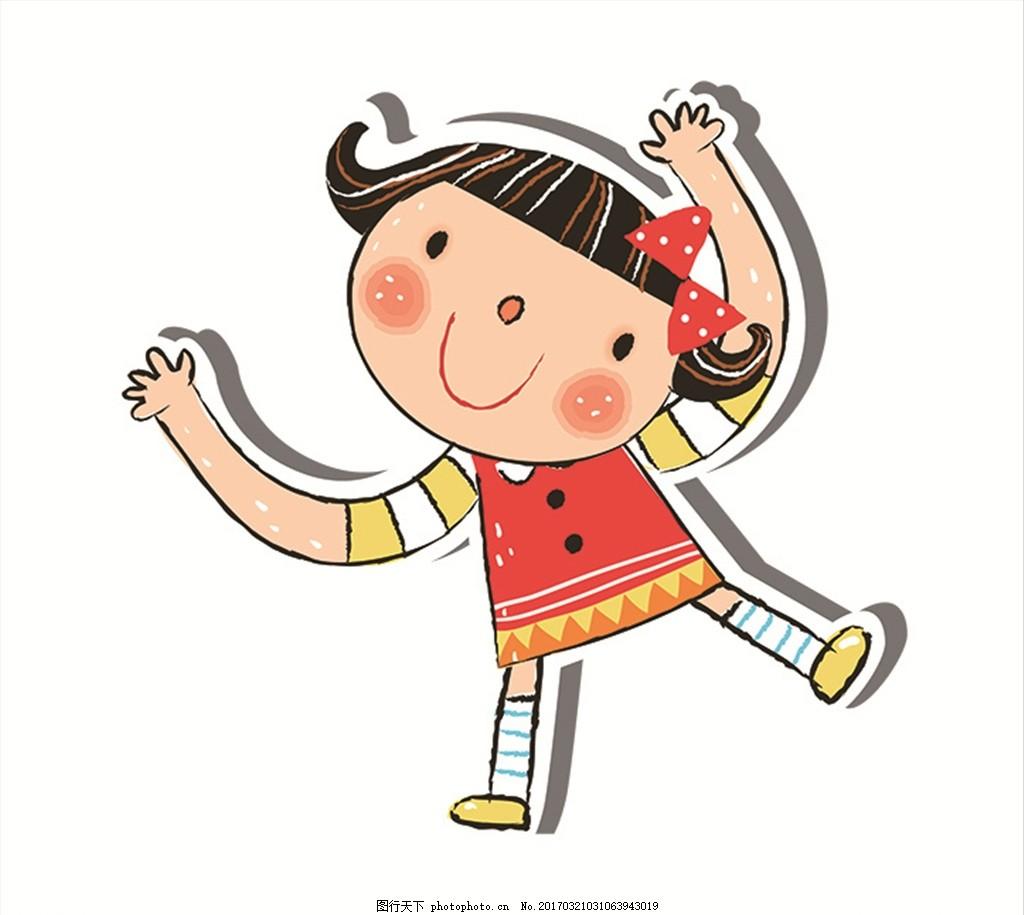 卡通女孩 卡通表情 卡通头像 手绘 设计 广告设计 其他 150dpi psd