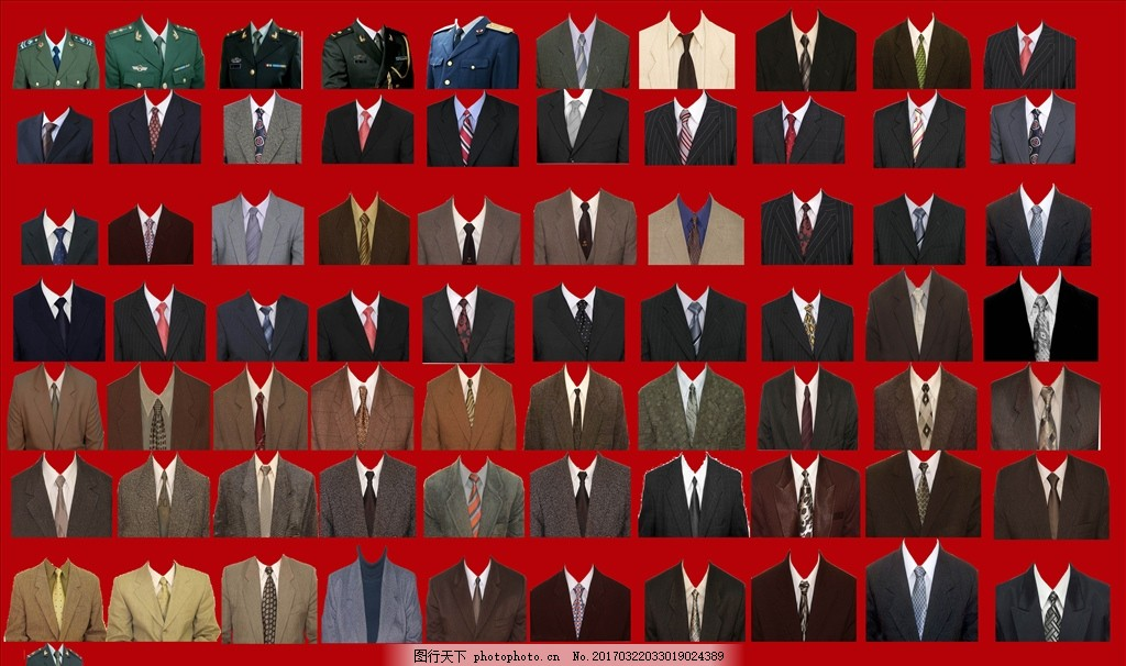男装证件照 女装证件照 证件照装 服装抠图 设计 psd分层素材 psd分层