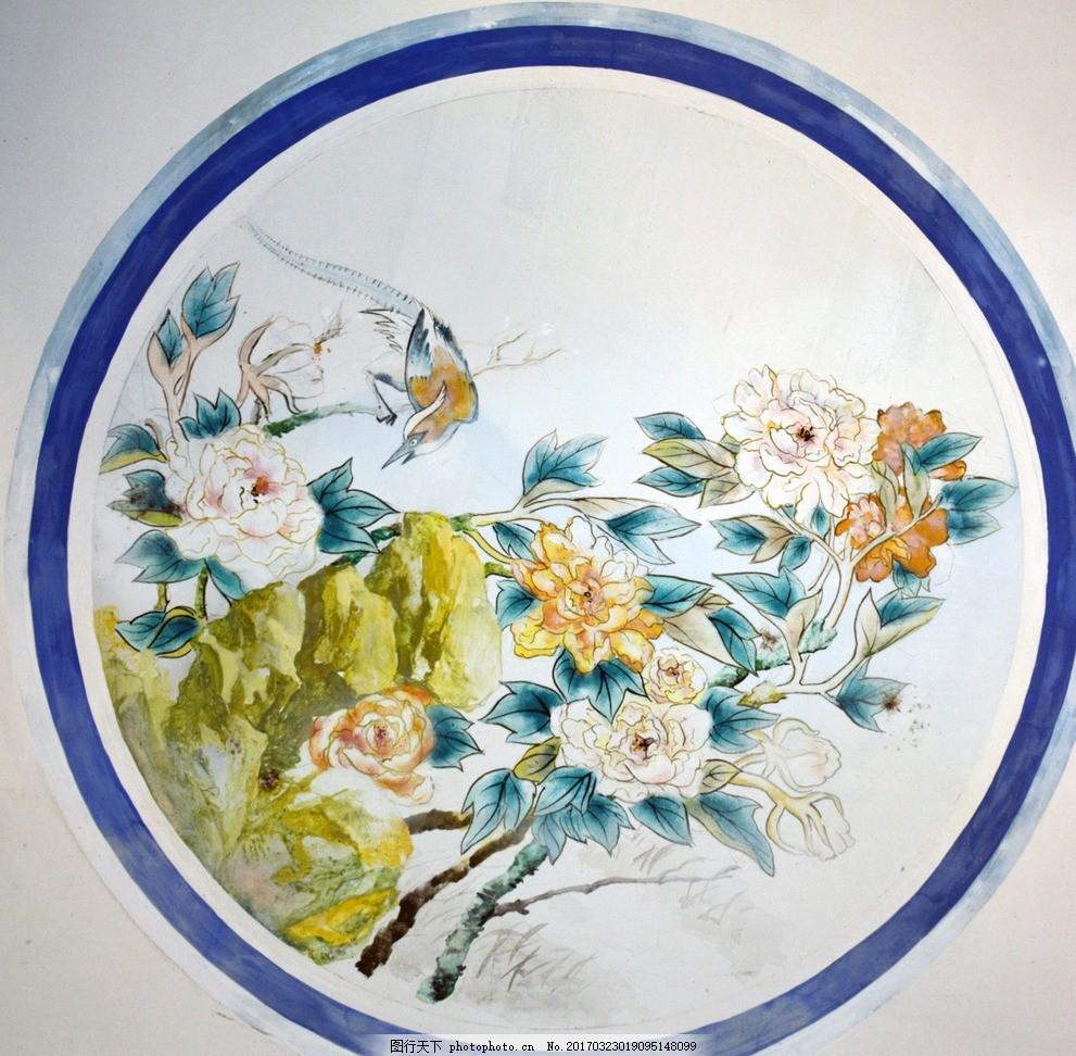 花鸟画 工笔画 国画 花鸟国画 手绘 花卉 手绘花 国画花鸟 摄影图库